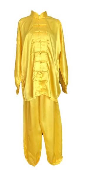 Žlutý oblek tajči. Oblečení tchaj-ťi čchüan na míru, taijieshop.cz