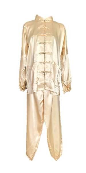 Béžový, tmavě zlatý oblek na tajči