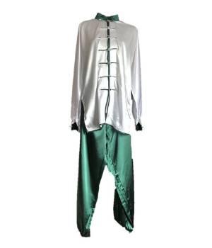 Saténové a bavlněné obleky, komplety, šaty, uniformy a oděvy na Tchaj-ťi (Taiji, Taichi, Tajči) v různých barvách saténu,