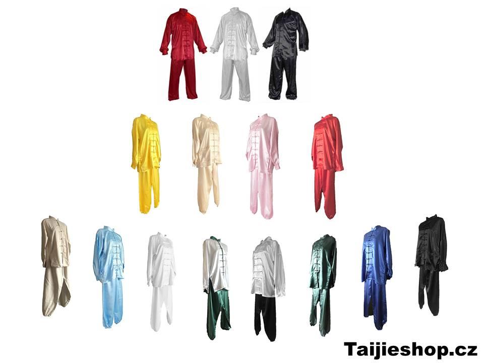 Taijeshop.cz, Barevné oblečení pro tchaj-ťi. Saténové obleky na tchaj-ťi, barevné uniformy na trénink