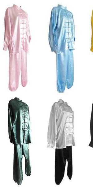 Barevné oblečení pro tchaj-ťi. Saténové obleky na tchaj-ťi, barevné uniformy na trénink